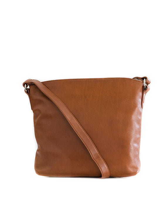 Zemp Orlando Cross Body Bag | Toffee Tan - KaryKase