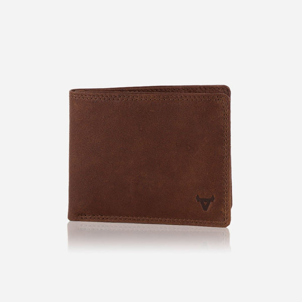 Brando Vintage Slim Traditional RFID Billfold Leather Wallet | Tan