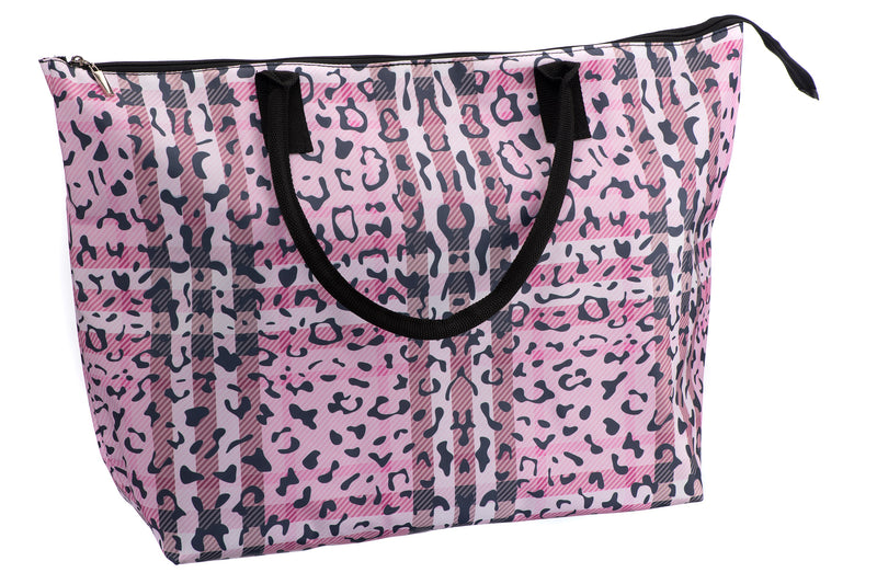 Caramia Pawberry Beach Bag | Pink/Black - KaryKase