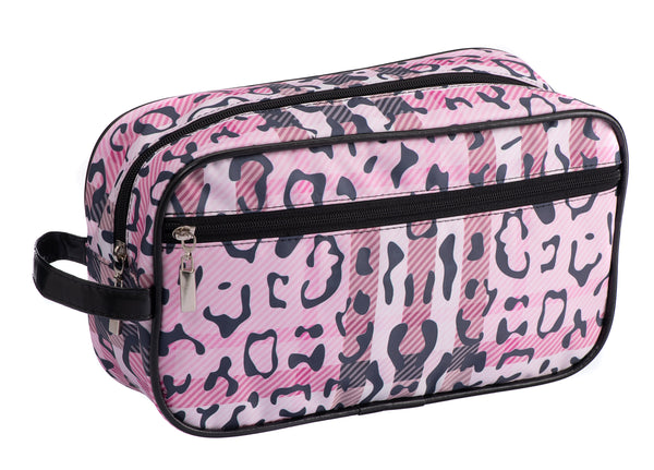 Caramia Pawberry Cosmetic Case L | Pink/Black