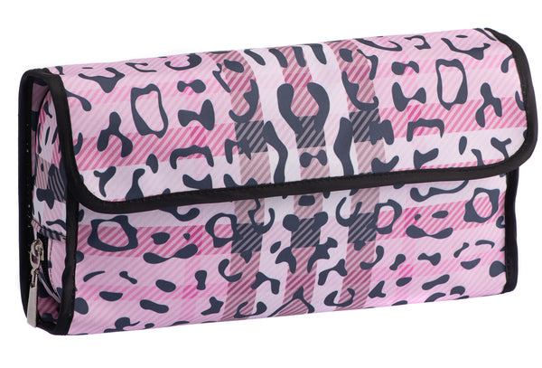 Caramia Pawberry Hanging Cosmetic Case | Pink/Black
