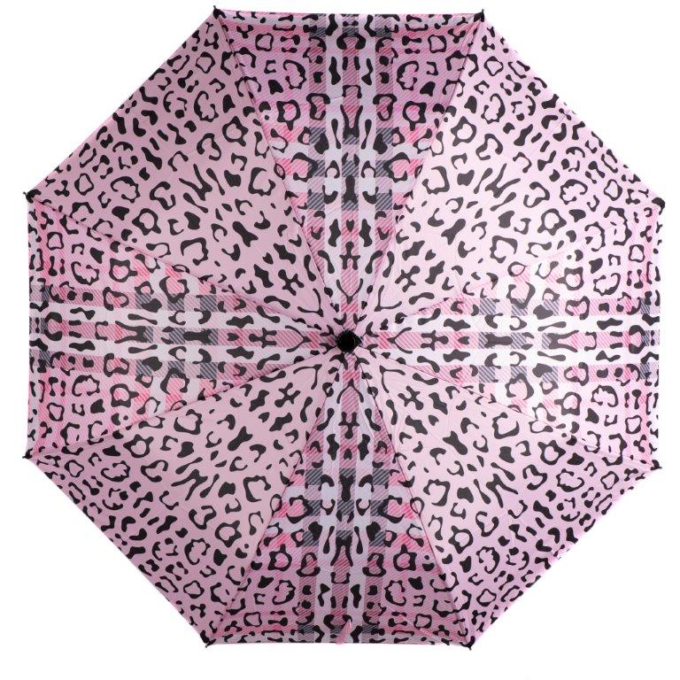 Caramia Pawberry Safari Auto Umbrella | Pink/Black - KaryKase