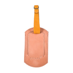 Escape Society Oval Genuine Leather Luggage Tag | Dusty Pink - KaryKase