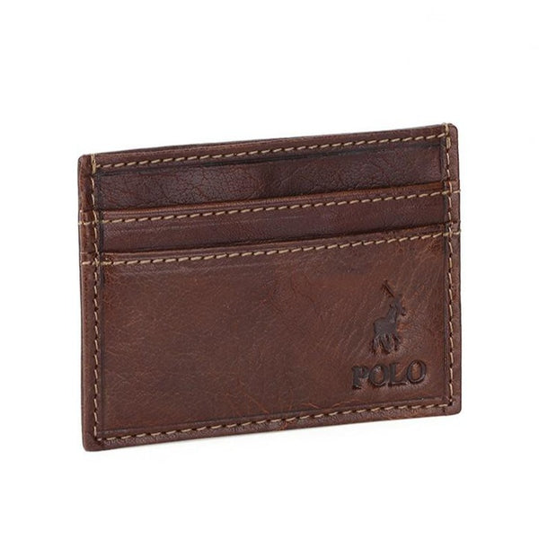 Polo Hamilton Small Money Clip Wallet | Brown - KaryKase
