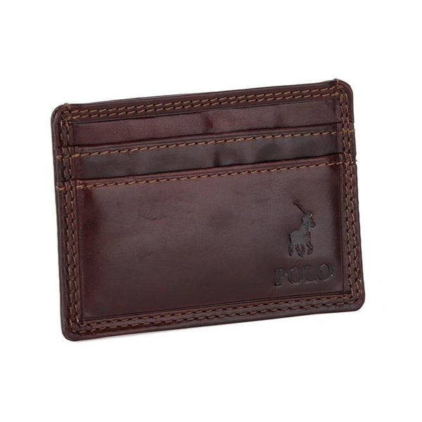 Polo Kenya Leather Small Money Clip Wallet | Brown - KaryKase