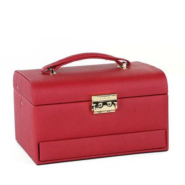 Polo Medium Jewellery Case | Red - KaryKase