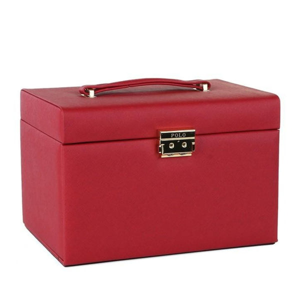 Polo Large Jewellery Case | Red - KaryKase