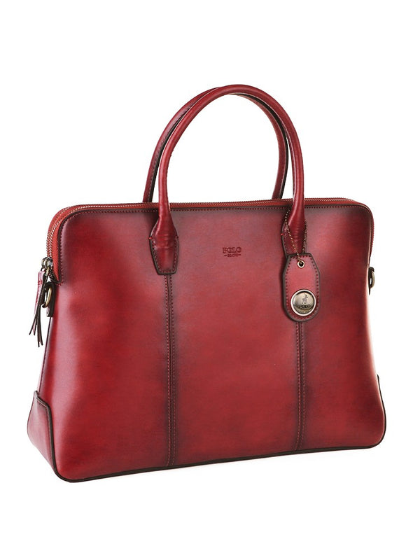 Polo Modello Leather Slimline Business Case | Red - KaryKase