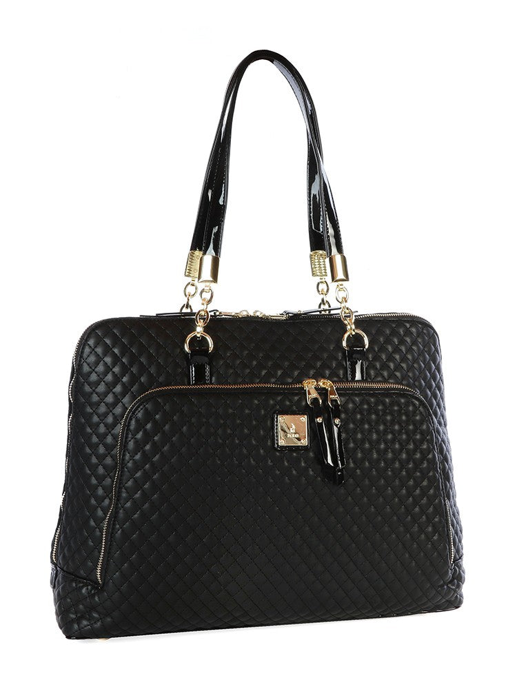 Polo Madison Slimline Ladies Briefcase | Black - KaryKase