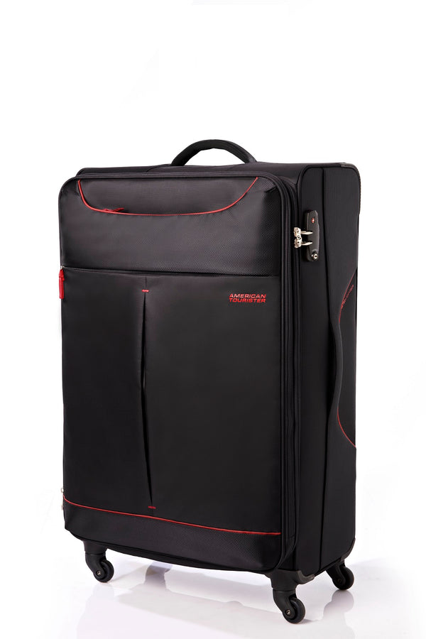 American Tourister Sky 68cm Medium Spinner - Expandable | Black/Red