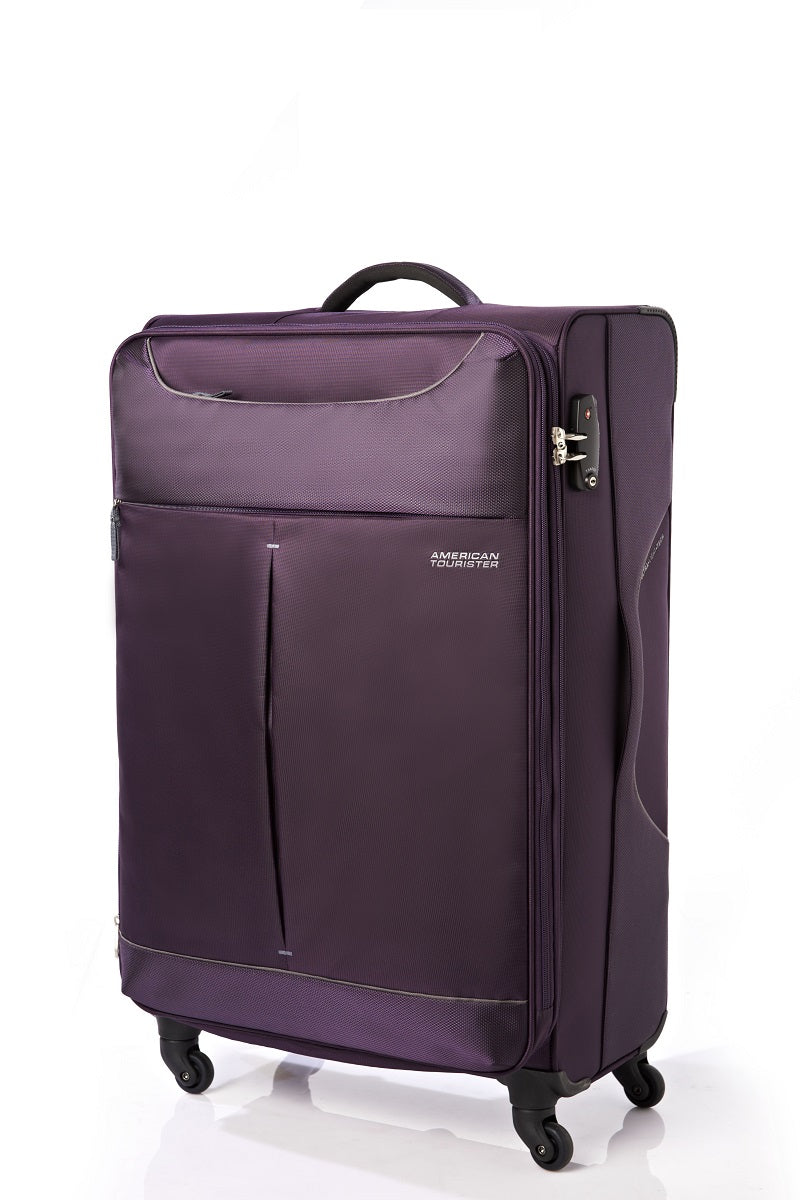 American Tourister Sky 68cm Medium Spinner - Expandable | Purple/Grey - KaryKase