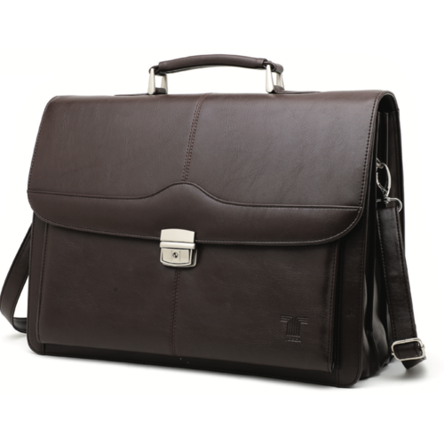 Tosca 3 Division PU Laptop Briefcase