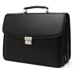 Tosca 3 Division Laptop Briefcase With Front Pocket | Black - KaryKase