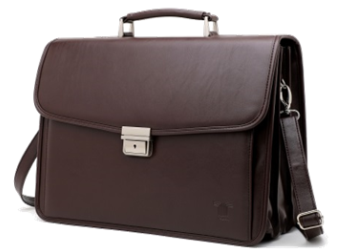 Tosca 3 Division Laptop Briefcase With Front Pocket | Brown