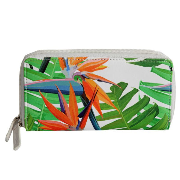SoGood-Candy Two Zip Wallet | Strelitzia PU