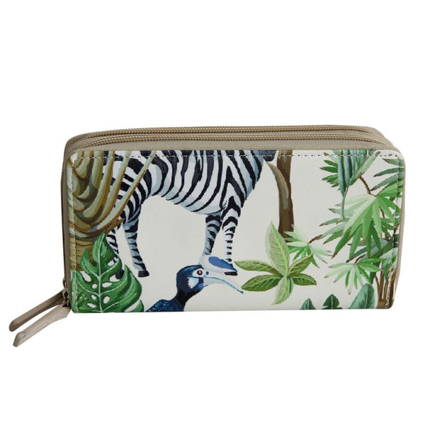 SoGood-Candy Two Zip Wallet | Tropical Fauna & Flora PU