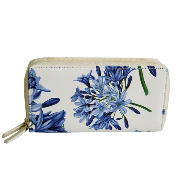 SoGood-Candy Two Zip Wallet | Purple Agapanthus PU