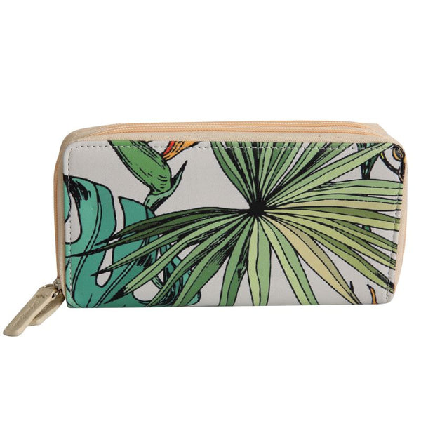 SoGood-Candy Two Zip Wallet | Exotic Strelitzia PU