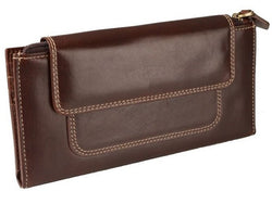 Adpel Dakota Leather Purse With Magnetic Closure | Brown - KaryKase