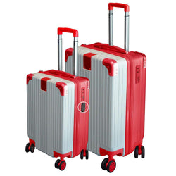 Eco Earth Berlin 2 Pc Luggage Spinner Set | Red/Silver - KaryKase
