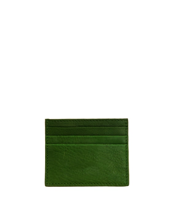 Zemp Rio Leather 6 Credit Card Holder | Forest Green - KaryKase