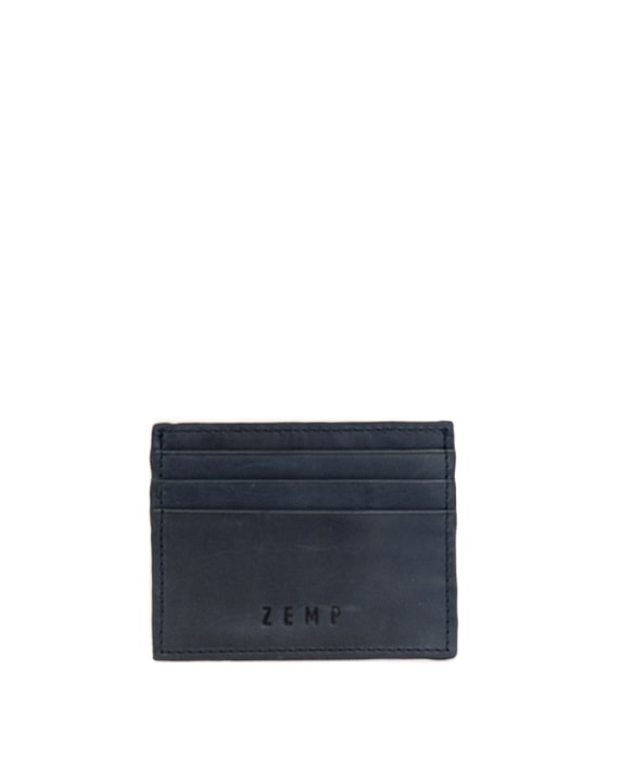 Zemp Rio Leather 6 Credit Card Holder | Navy Blue - KaryKase