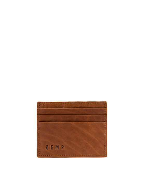 Zemp Rio Leather 6 Credit Card Holder | Toffee Tan - KaryKase