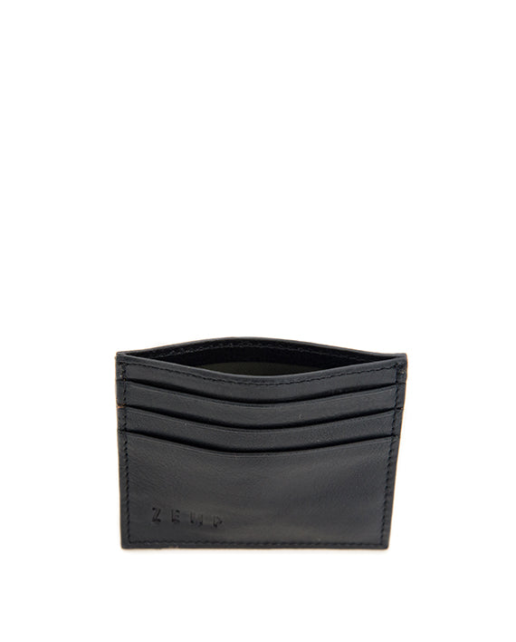 Zemp Rio Leather 6 Credit Card Holder | Black - KaryKase