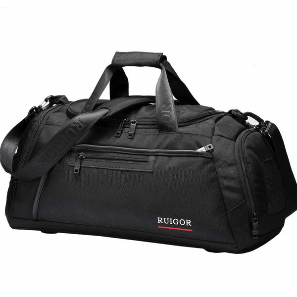 Swiss Ruigor Motion 32 Large Duffel Bag | Black - KaryKase