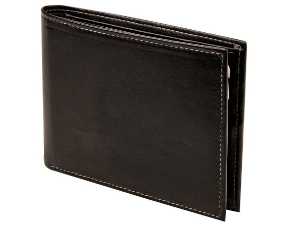 Adpel Synthetic Leather Wallet With RFID & Coin Purse | Black - KaryKase