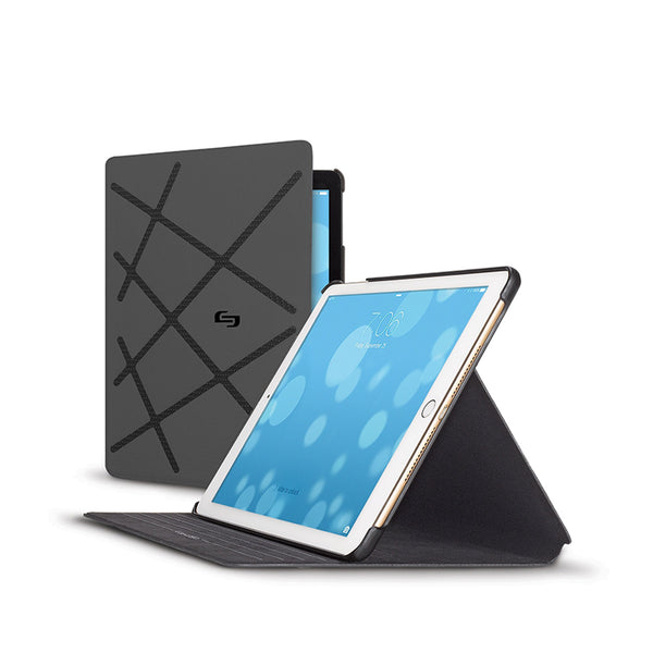 Solo Stadium Slim Case For Apple iPad 9.7 2017 | Black/Grey