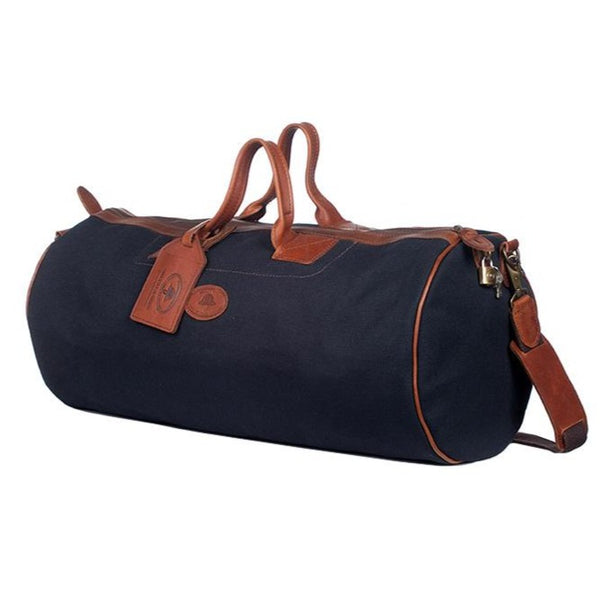 Melvill & Moon Canvas Short Safari Duffel Bag | Black - KaryKase