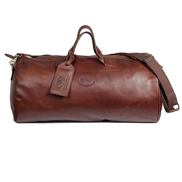 Melvill & Moon Leather Safari Duffel Bag (MED) | Brown - KaryKase