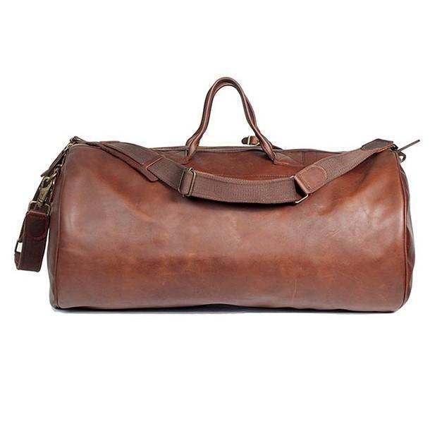 Melvill & Moon Leather Short Safari Duffel Bag | Brown - KaryKase