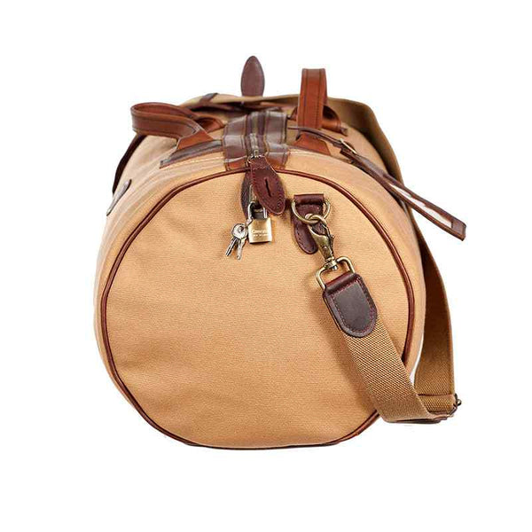 Melvill & Moon Canvas Short Safari Duffel Bag | Khaki - KaryKase