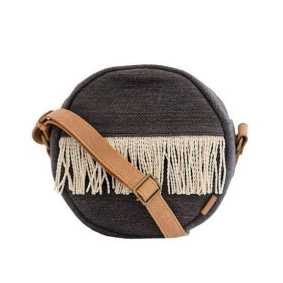 Zemp Santorini Rounded Crossbody Bag | Charcoal - KaryKase