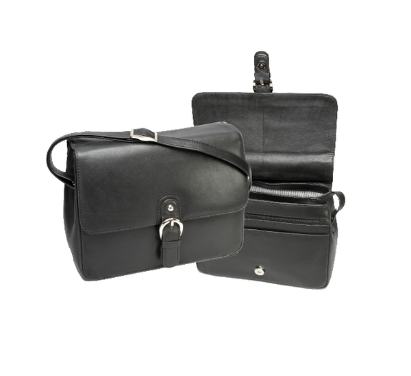 Monroe Leather Handbag With Flap - KaryKase