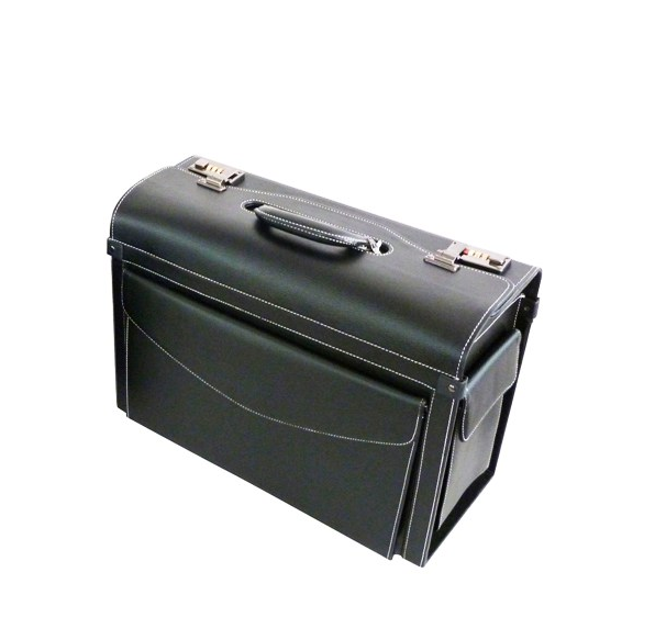 Tosca PVC Pilot Case (Medium) | Black - KaryKase