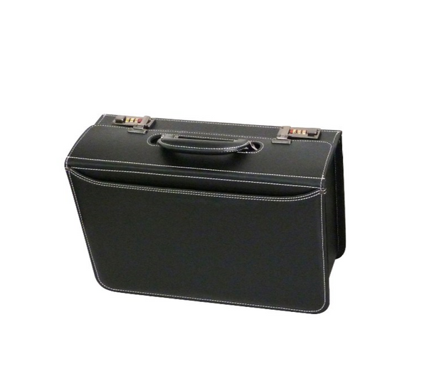 Tosca PVC Pilot Case (Small) | Black