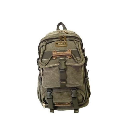 Tosca Canvas 22L Large Backpack | Green - KaryKase