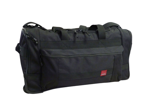 Tosca Trail Cardura Wheeled Duffel Bag | Black - KaryKase