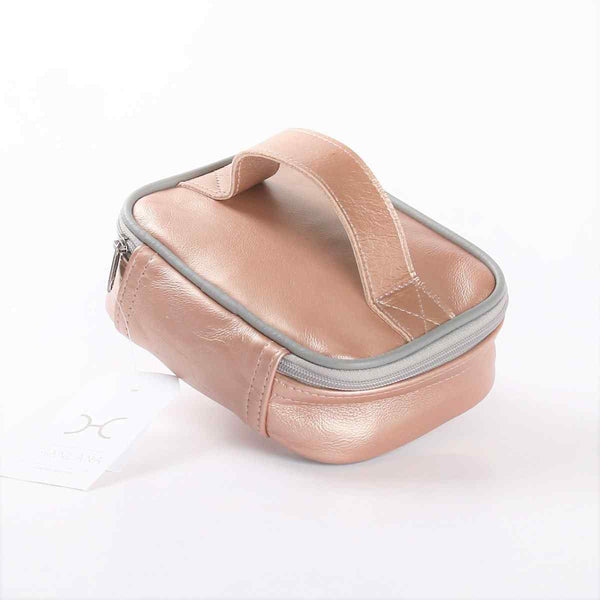 Thandana Metallic Leather Single Toiletry Case - KaryKase