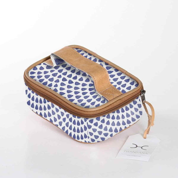 Thandana Laminated Fabric Single Toiletry Case - KaryKase