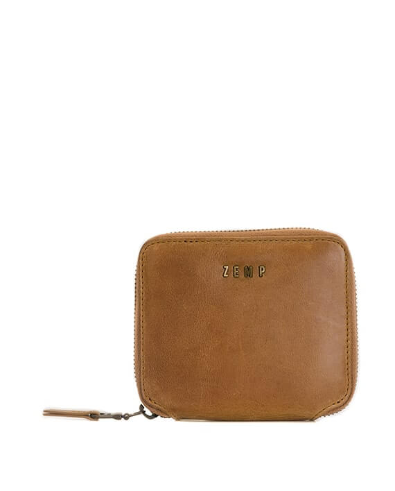 Zemp Sofia 6 CC Zip-around Compact Wallet | Waxy Tan - KaryKase
