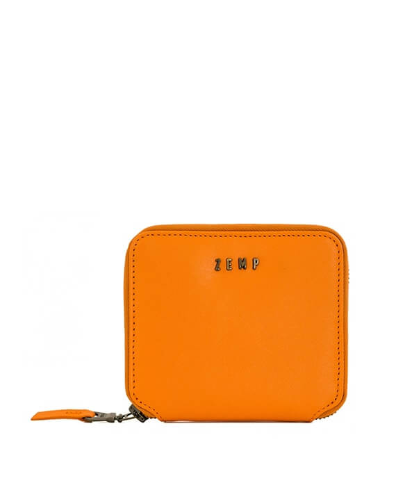 Zemp Sofia 6 CC Zip-around Compact Wallet | Orange - KaryKase