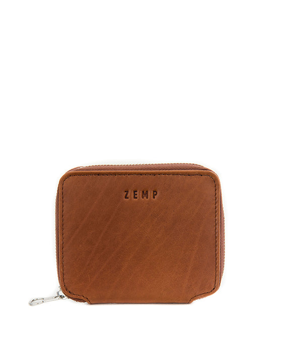 Zemp Sofia 6 CC Zip-around Compact Wallet | Toffee Tan - KaryKase