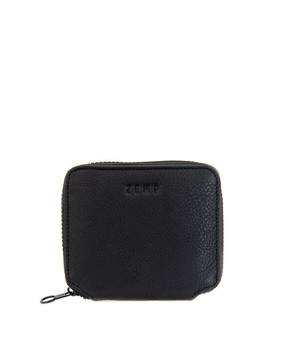 Zemp Sofia 6 CC Zip-around Compact Wallet | Black - KaryKase