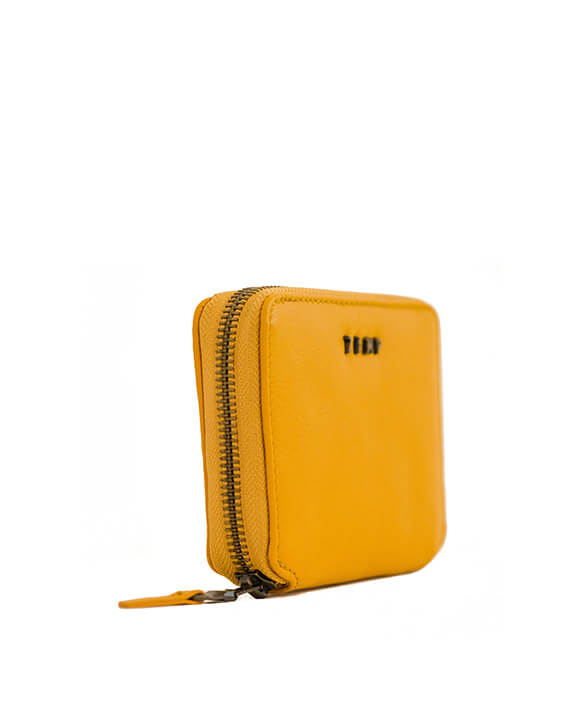 Zemp Sofia 6 CC Zip-around Compact Wallet | Yellow - KaryKase