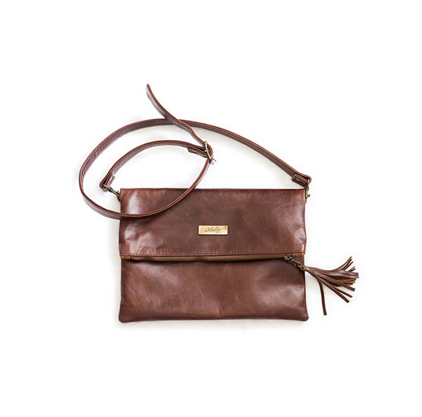 Mally Sophia Leather Sling Bag | Brown - KaryKase