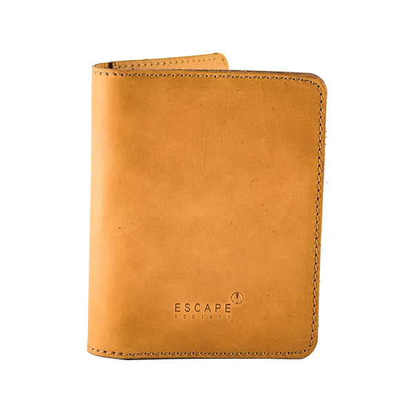 Escape Society Genuine Leather Passport Holder | Tan - KaryKase